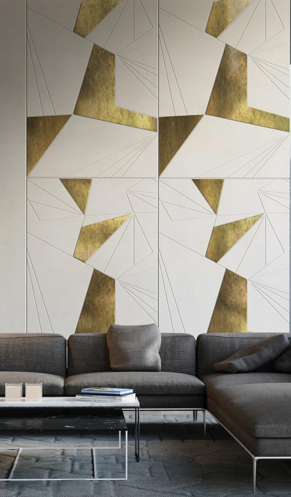 Conclad Decor: decoro ForMos P, design by Silvia Fregoli Parete in cemento non cemento